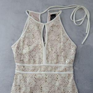 Nightway Sequin Lace Dress